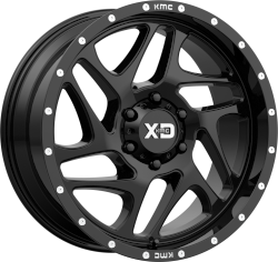 Fury 20x12 8x165.1 Gloss Black Milled (-44 mm)