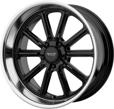 Rodder 18x8 5x127 Gloss Black w/ Diamond Cut Lip (0 mm)