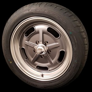 Mag Gray Salt Flat 17x7 & 17x8 5x4.5 Staggered Wheel and Tire Package Set of Four