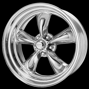 "Polished Torq Thrust II 18x9 5x5.0 5.0"" Backspace"