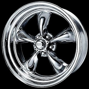 "Chrome PVD Torq Thrust II 17x8 5x4.75 4.81"" Backspace"