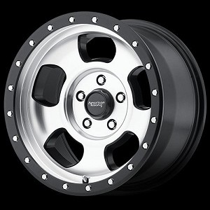 Ansen Off Road 17x9 5x5.5 Machined  (-12mm)