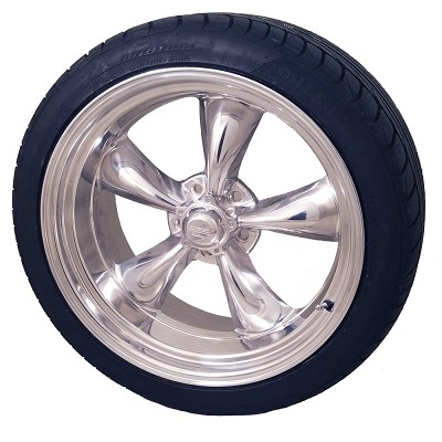 Torq Thrust II 17x8 & 17x9.5 5x4.75 C3 Corvette Wheel and Tire Package Set of Four