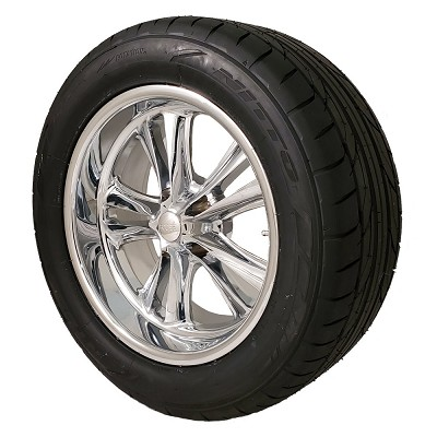 Foose Knuckle 18x8 5x4.75  Wheel and Tire Package Set of Four