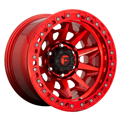Covert Bead Lock - Off Road Only 17x9 Candy Red 6x139.7 (6x5.5) Bolt Pattern -15mm Offset