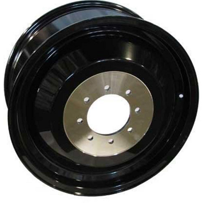 Dualie Inner 20x8.25 Gloss Black 8x165.1 (8x6.5) Bolt Pattern 115mm Offset