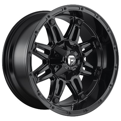 Hostage 17x9 Gloss Black 6x135, 6x139.7 (6x5.5) Bolt Pattern 1mm Offset