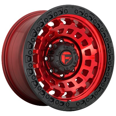 Zephyr 20x10 Candy Red Black Bead Ring 8x180 Bolt Pattern -18mm Offset
