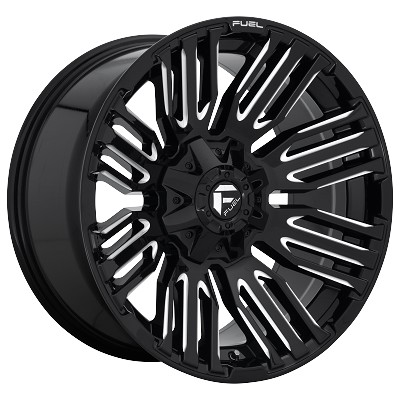 Schism 20x10 Gloss Black Milled 8x180 Bolt Pattern -18mm Offset