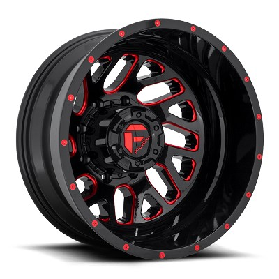 Triton 20x8.25 Gloss Black Red Tinted Clear 8x200 Bolt Pattern -201mm Offset