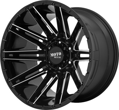 Kraken 20x10 Gloss Black Milled 8x170 Bolt Pattern -18mm Offset