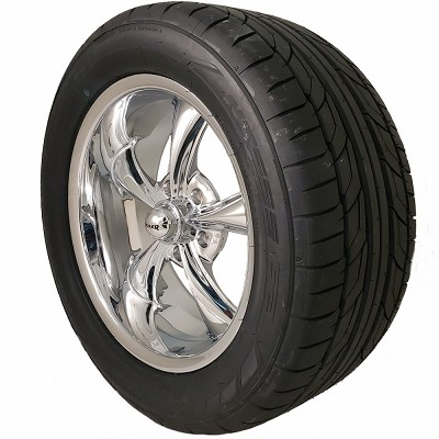 Ridler 695 18x8 5/4.75 Wheel and Tire Package Set of Four