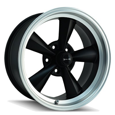 675 MATTE BLACK/MACHINED LIP 17x7  5x114.3  0mm Offset