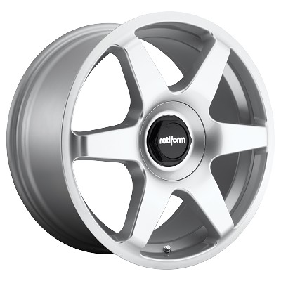 Six 18x8.5 Gloss Silver Blank Bolt Pattern 35mm Offset