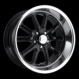 Black Rambler 1pc 17x8 5/4.5 +1MM Offset
