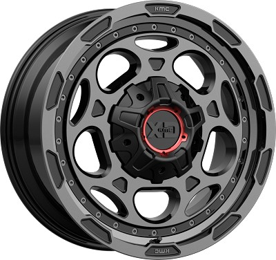 Demodog 20x10 5x127/5x139.7 Satin Black W/ Grey Tinted Clear Coat (-18 mm)
