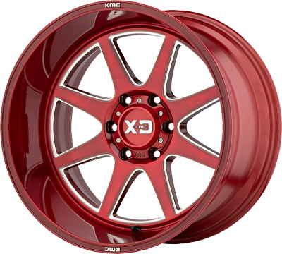 Pike 20x9 6x139.7 Brushed Red w/ Milled Accents (0 mm)